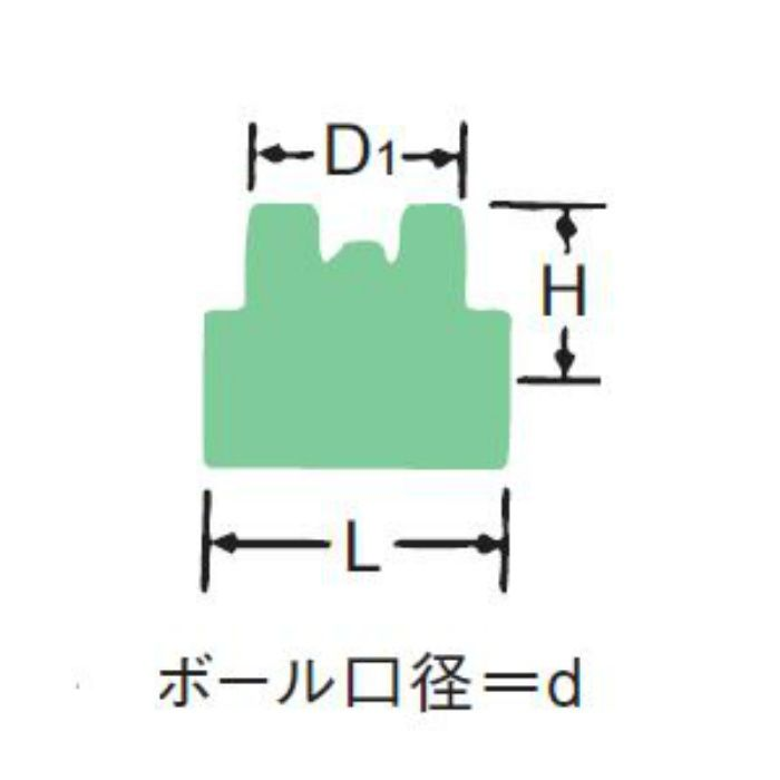 600RC-N-T 黄銅フルボアボール弁 (蝶型ハンドル) 20A