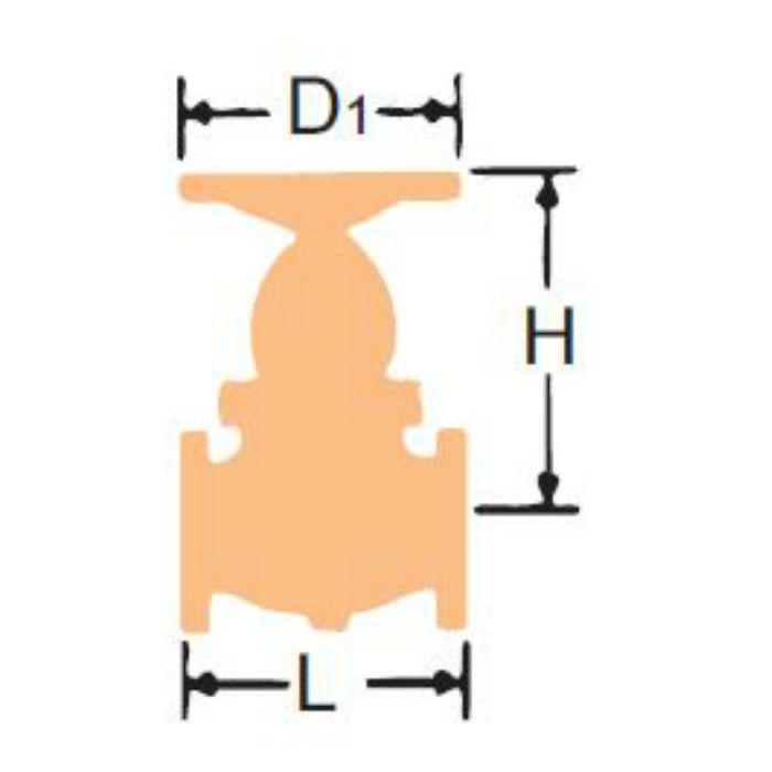 10DGF-N(BB) FCD-S グローブ弁【フランジ・CR13・ボルテッドボンネット】 50A