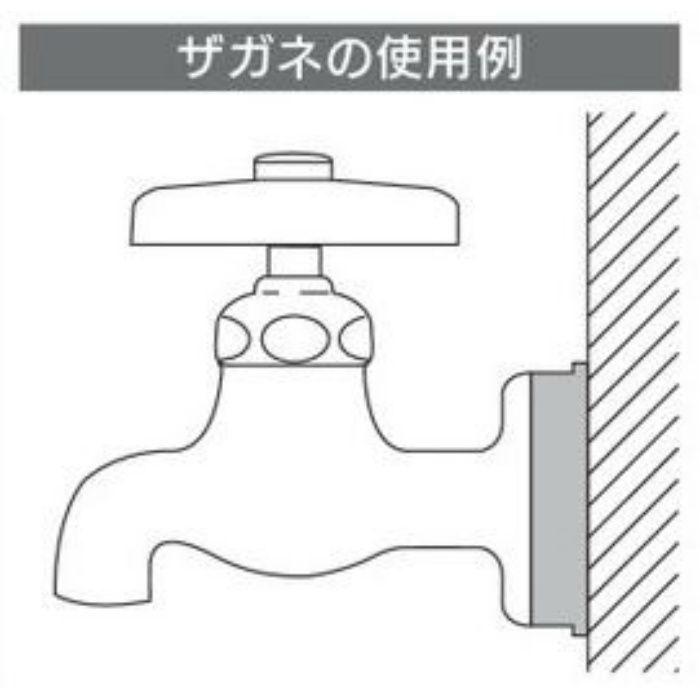 6216-3×80 配管穴カバーザガネ 給水ザガネ(ツバヒロ)