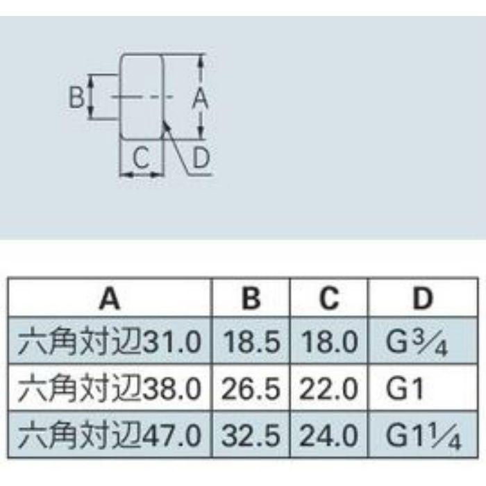 0666-25 水道メーター接続ナット メーター用フクロナット(塩ビ用)