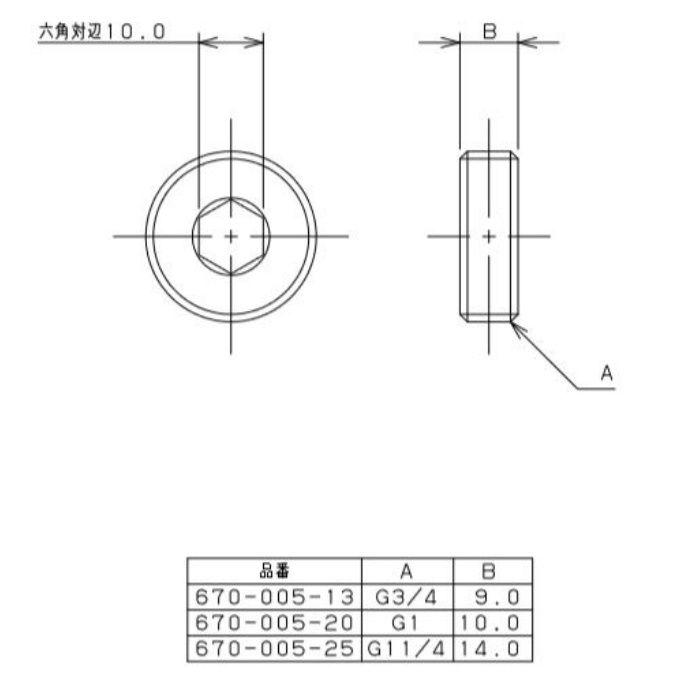 670-005-25 水道メーター接続ナット メーター用閉栓キャップ