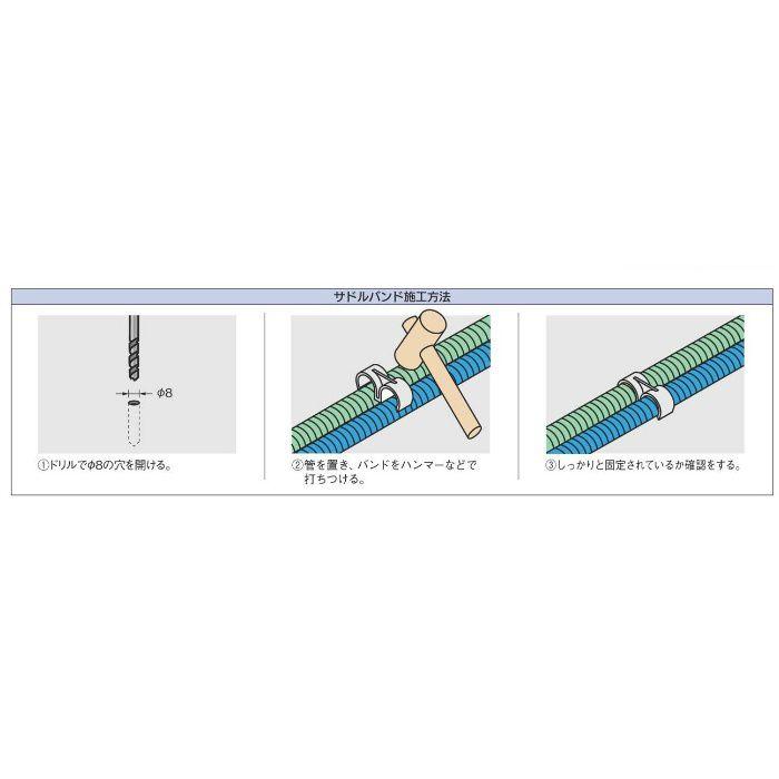 625-302-25 配管固定バンド 樹脂製サドルバンド(ダブル)
