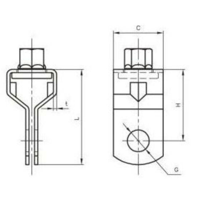 A10312 吊用タンバックル W1/2