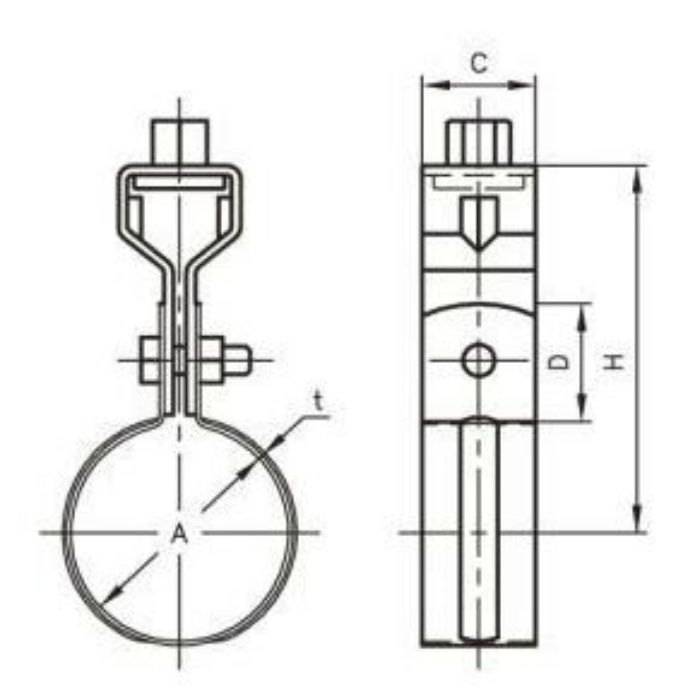 A10158 VP管用 吊バンド タン付 125A