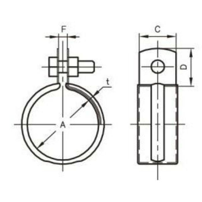 A10153 デップ ステンレス管用 吊バンド タン無し 20