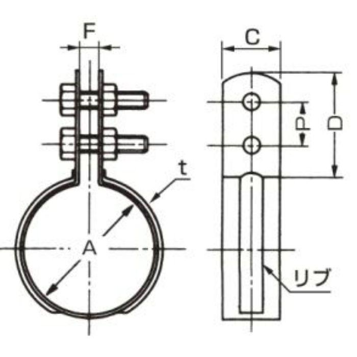 A10331 VP管用 立バンド 75A