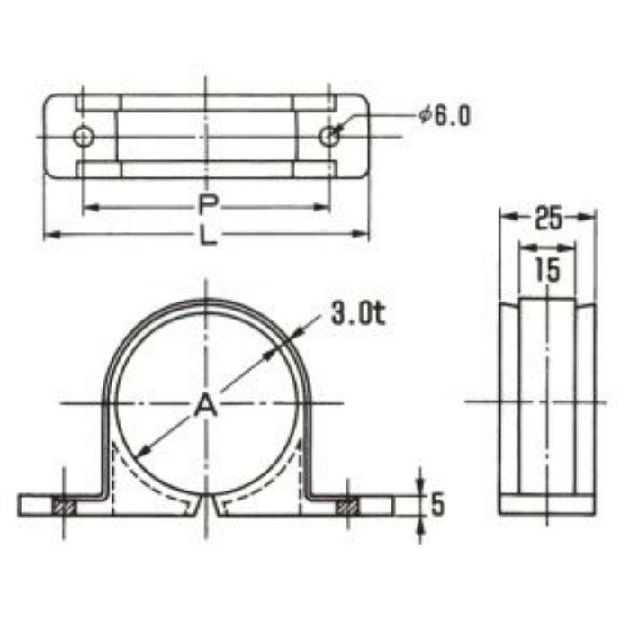 A10511 PP サドル (銅管用) ナチュラル 20A