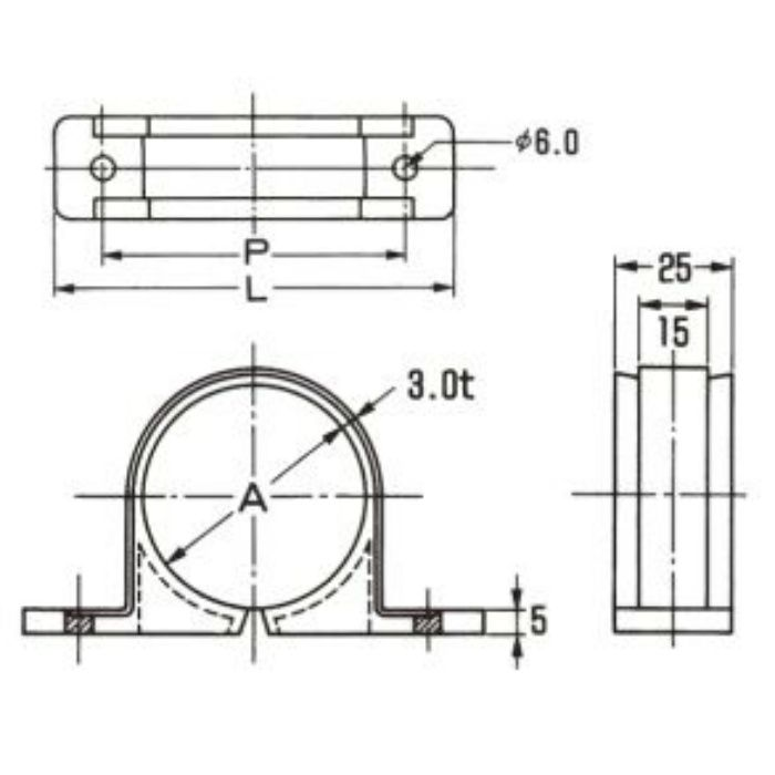 A10511 PP サドル (VP用) グレー 16A
