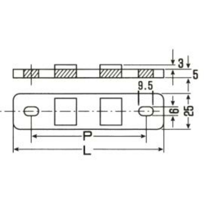 A10513 PP サドル用台座 グレー バンゴウ10-11
