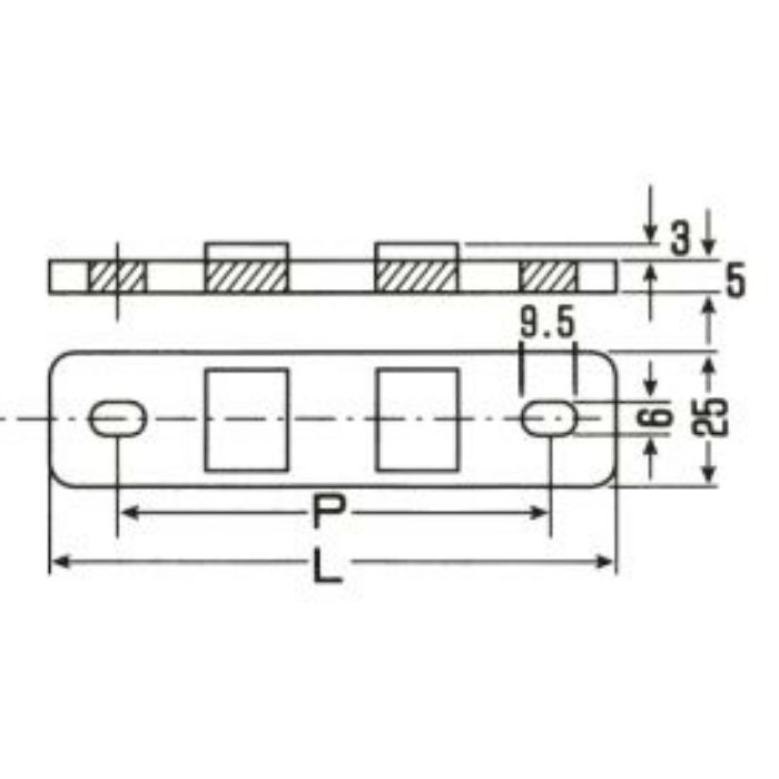A10513 PP サドル用台座 グレー バンゴウ6-7