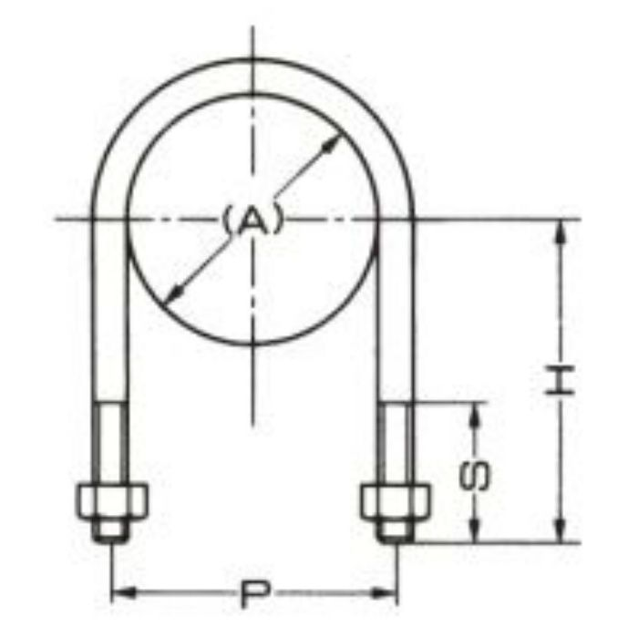 A10599 足長Uボルト+30 (SGP管用) 32A