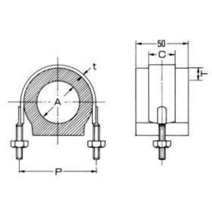 A10638 ウレタン 置式 (MSタイプ) 保温厚30mm 200A