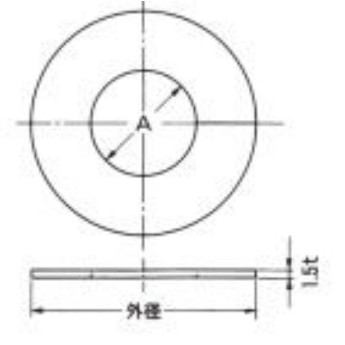 A10691 ビニプレート のり付 (白) 32A