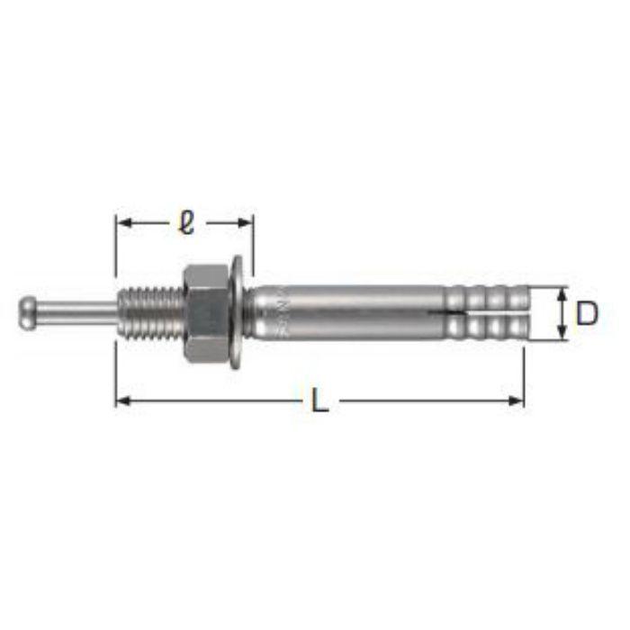 A10786 ステンAアンカー (SCタイプ) おねじ形 芯棒打込み式 SC-1060