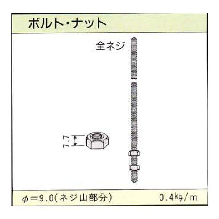 全ねじボルト 3分 2m 【地域限定】