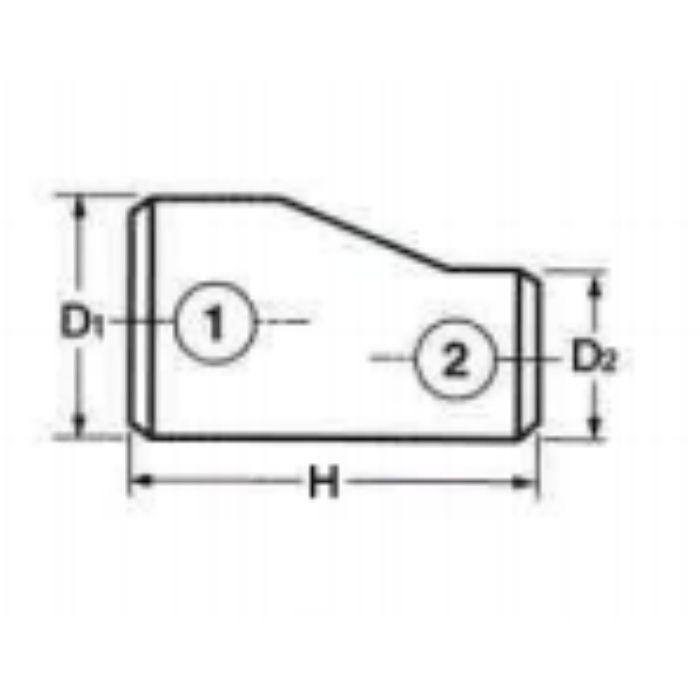30410SER SUS304W 10S エキセントリックレジューサー(偏心) 40A×15A