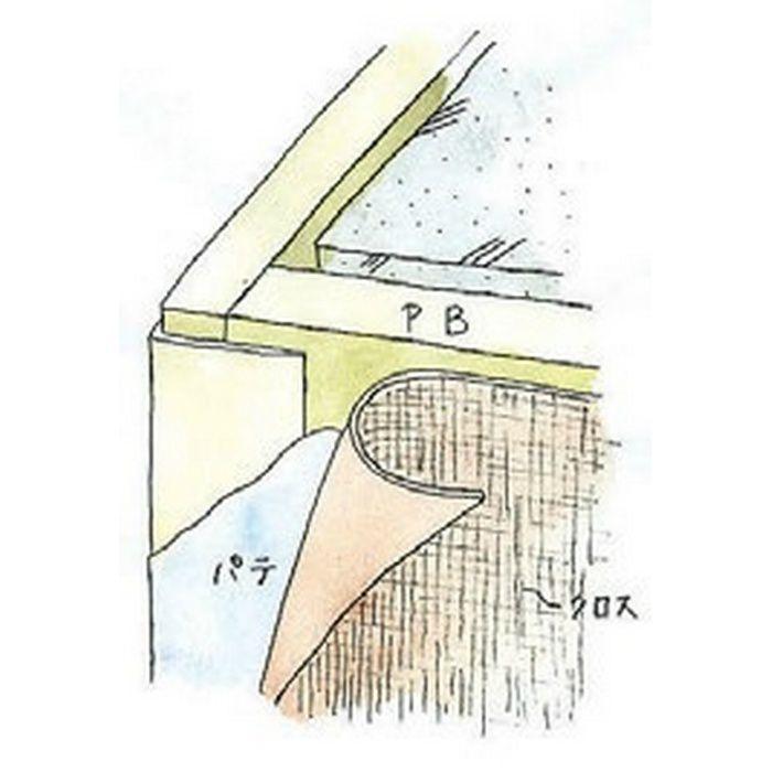 ペンキ・クロス下地材 出隅 ビニール L型コーナー21穴あき ミルキー 2.5m  01216-1