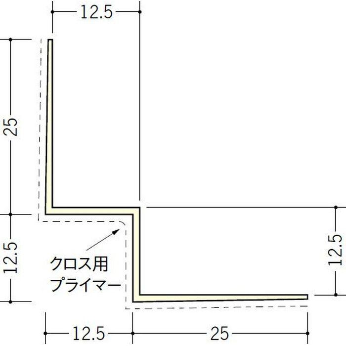 ペンキ・クロス下地材 出隅 ビニール WG-12.5 ミルキー 3m  01090-2