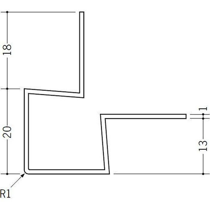 ペンキ・クロス下地材 出隅 ビニール 角型イカ出隅13 ホワイト 2.73m  37127