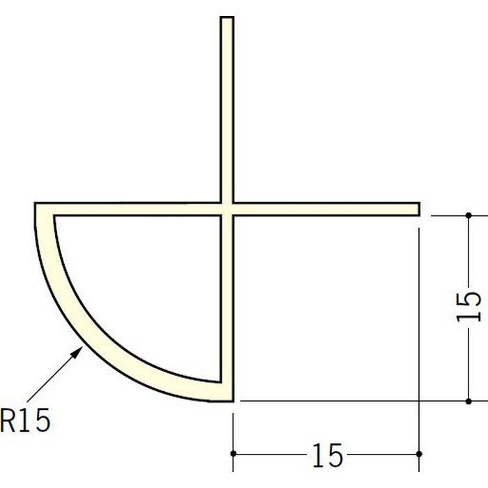 ペンキ・クロス下地材 出隅 ビニール 丸面15R-15mm用 ミルキー 2.5m  01050