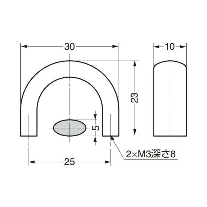 ランプ印ステンレス鋼製ハンドルDS型 DS-30S 100-011-112