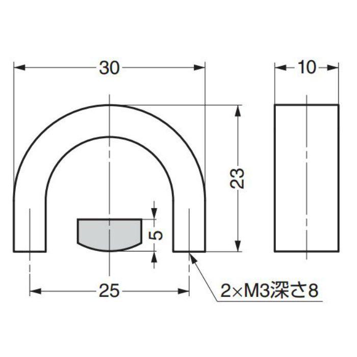 ランプ印ステンレス鋼製ハンドルKB型 KB-30S 100-011-094