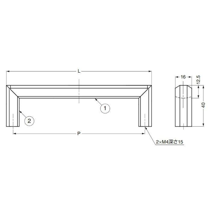 ランプ印ハンドルXLA-HA型 XLA-HA320 100-010-063