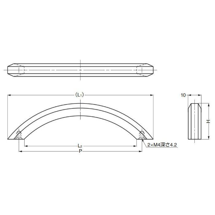 真鍮ハンドルK281型 K281-128CR 100-012-784