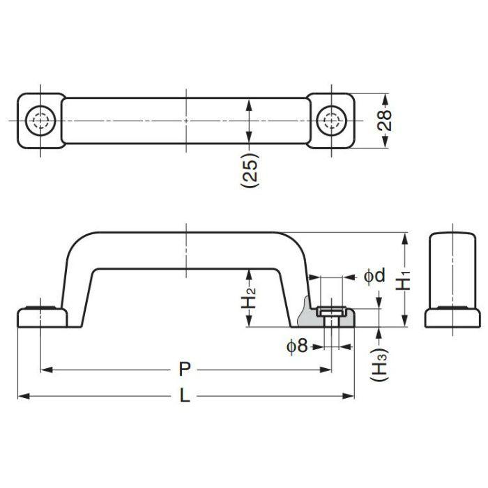 鉄芯入りプラスチックハンドルWB-900404 WB-900404 100-012-912