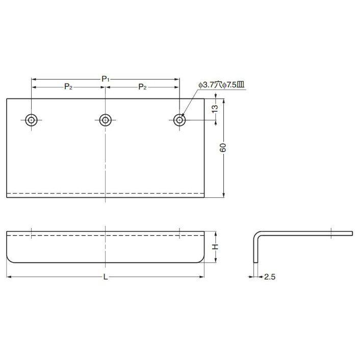 ランプ印ステンレスアングルハンドルSND型 SND-120M 100-010-153