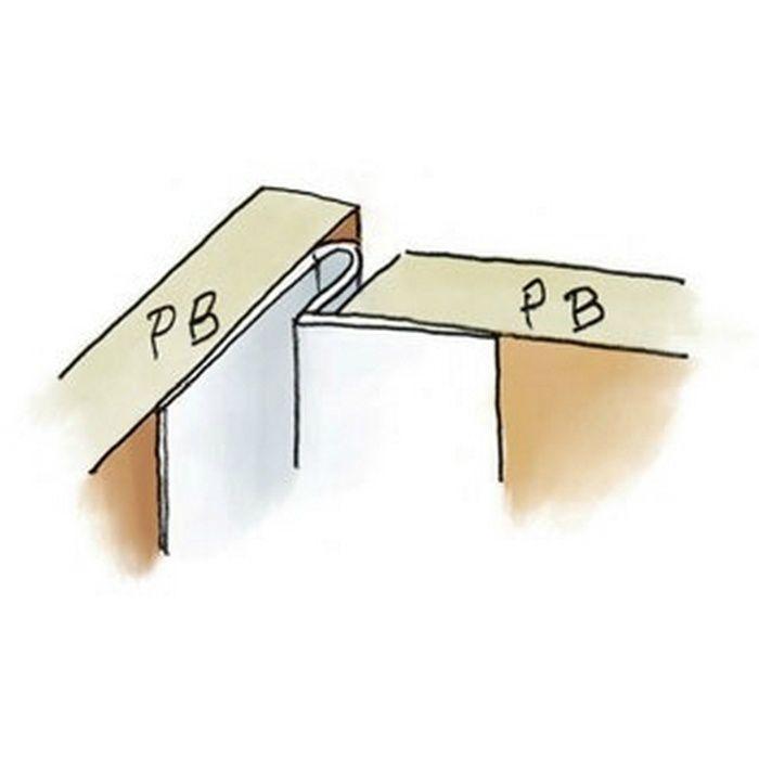 ペンキ・クロス下地材 入隅・天井廻り 吸震 ビニール IP-3 テープ付 ホワイト 2.5m  34091-1