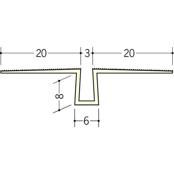 ハット目地3 ミルキー 2.5m 34081-1