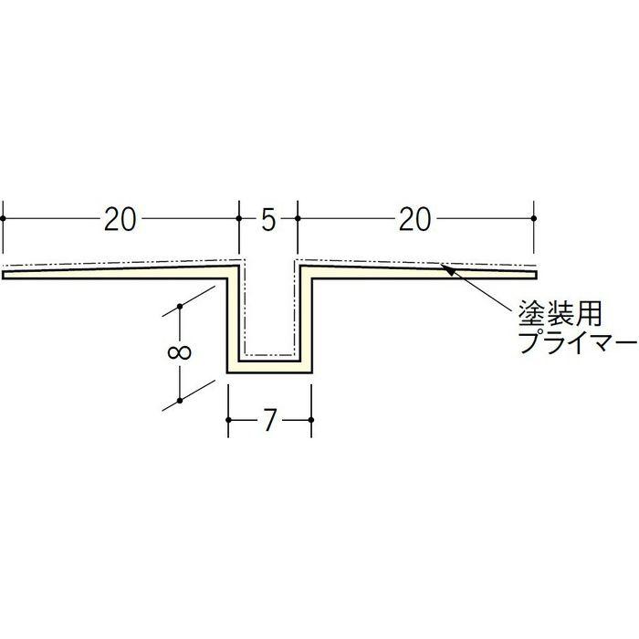 ハット目地5塗装プライマー付 ミルキー 2.5m 37139-1