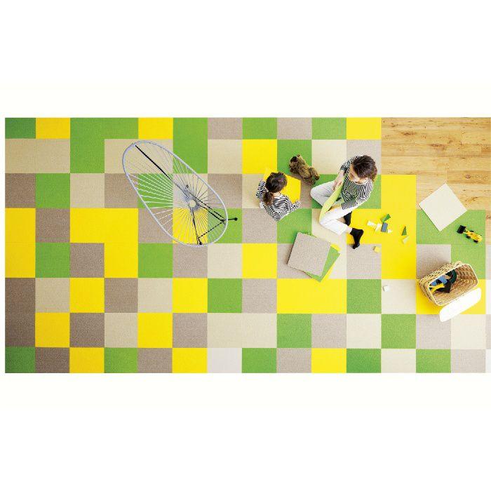住宅用タイルカーペット スタイルキットループ KIT-2 きみどりいろ 40cm×40cm 2枚/セット