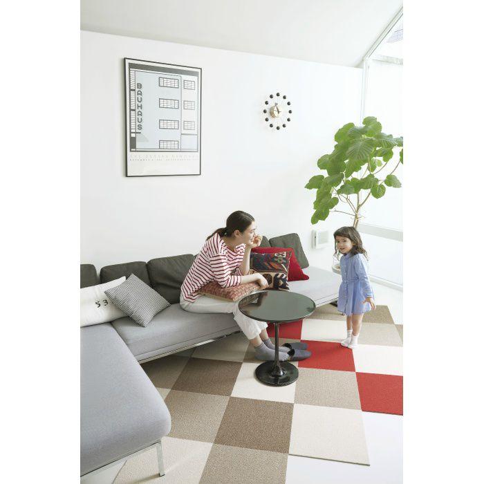 住宅用タイルカーペット スタイルキットループ KIT-4 らくだ 40cm×40cm 2枚/セット