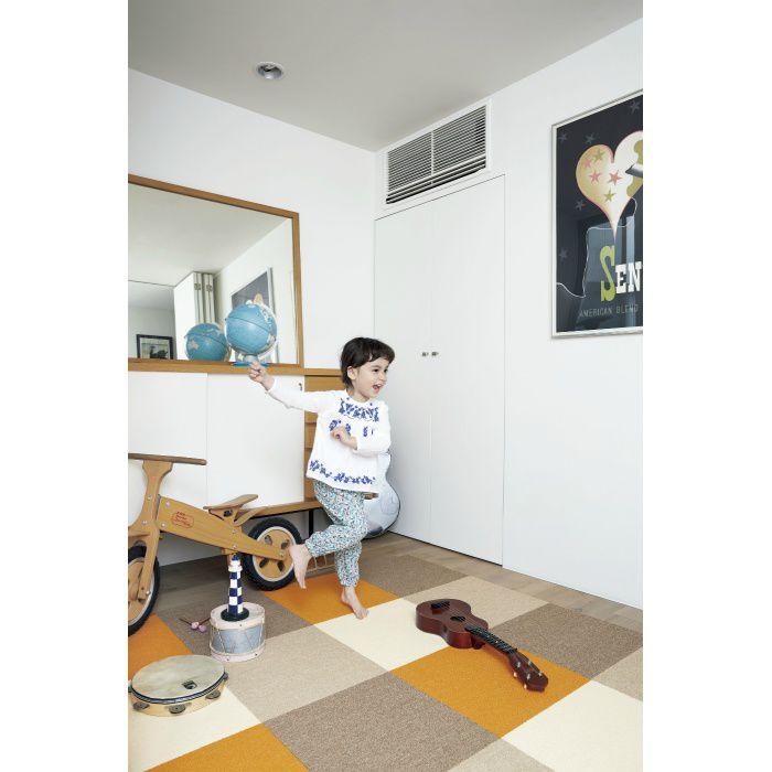 住宅用タイルカーペット スタイルキットループ KIT-13 もぐら 40cm×40cm 2枚/セット