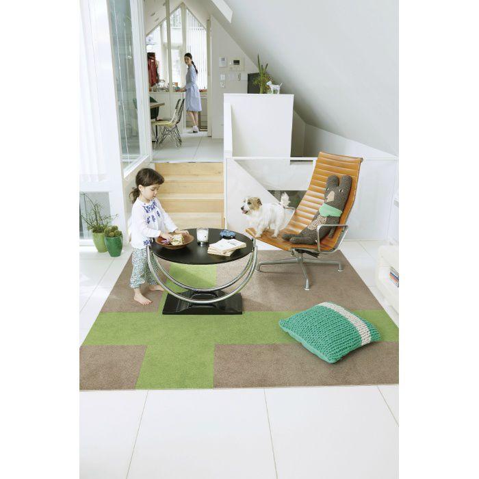 住宅用タイルカーペット スタイルキットカット KIT-52 メロン 40cm×40cm 2枚/セット