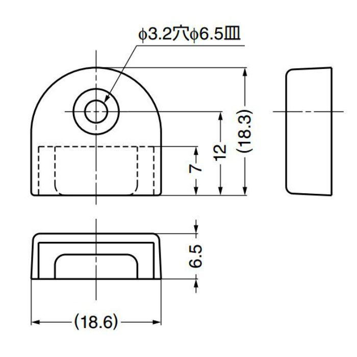 ランプ印棚柱用エンドキャップSP-18Eステンレス鋼製棚柱SPH型、SP型、SPS型、SM型用 SP-18E-BL 120-030-214