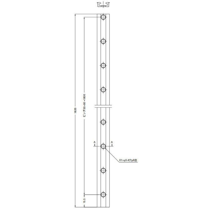 SKB棚柱SKB-1820掘込み用 SKB-1820BR 120-041-378