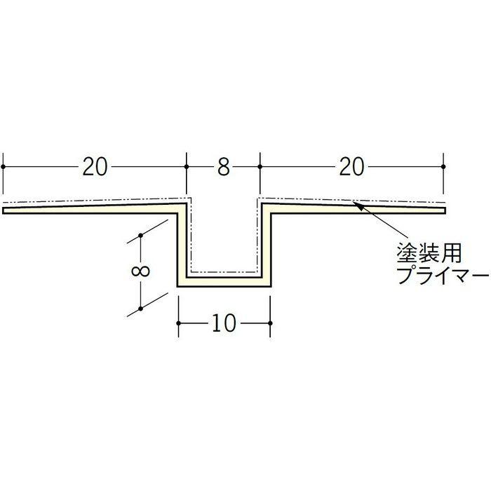 ハット目地8塗装プライマー付 ミルキー 2.5m 37148-1