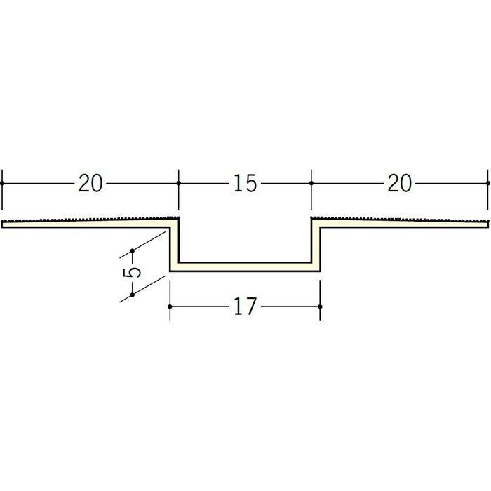 ハット目地15×5 ミルキー 3m 37191-2