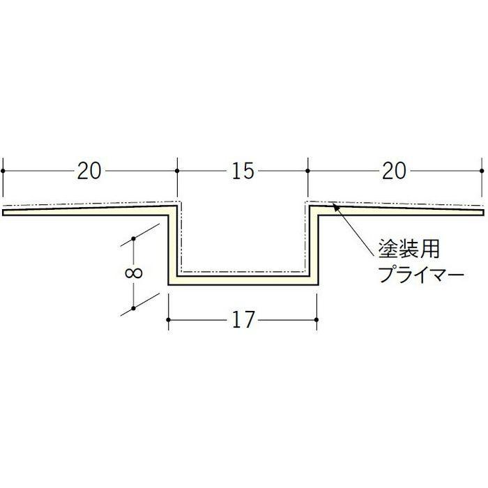 ハット目地15塗装プライマー付 ミルキー 2.5m 33199-1