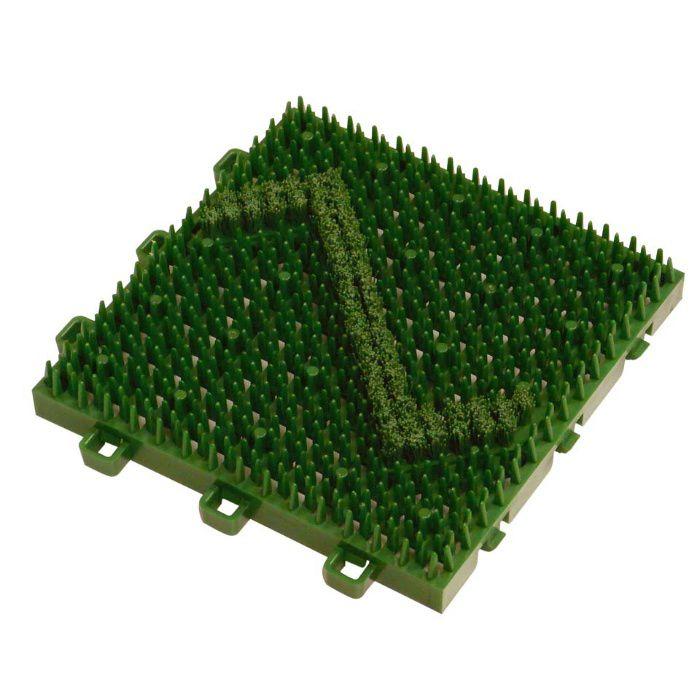 ブラシマットD 本体 グリーン 22mm×150mm×150mm