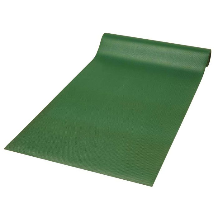 筋入ゴム長マット 1.2m×10m×6mm グリーン 6mm×1.2m×10m