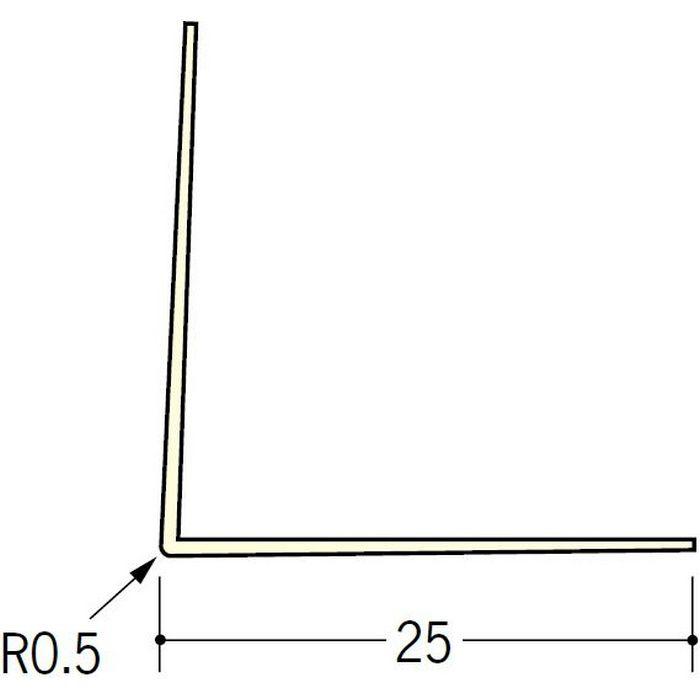 ペンキ・クロス下地材 出隅 ビニール L型コーナー25 ミルキー 2.5m  01015-1