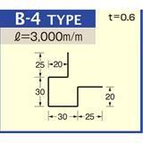 B-4 ライトアイボリー (C-222) アルミロールフォーミングスパンドレル ボーダー t=0.6mm L=3000mm