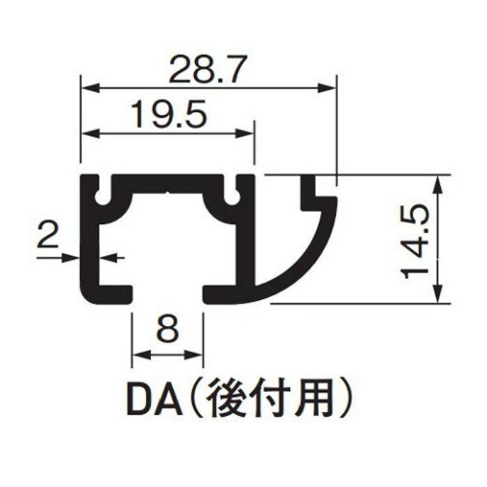 ピクチャーレイルギャラリー DA(後付用) 514-950 ホワイト 5本/ケース