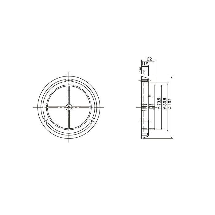 パイプ仮枠止コーキング用 75 312-420 200個/ケース