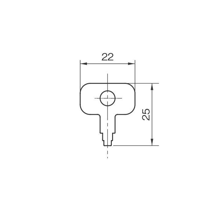 ワンタッチ平面ハンドル ロングタイプ MKS-05K 小鍵のみ 451-255