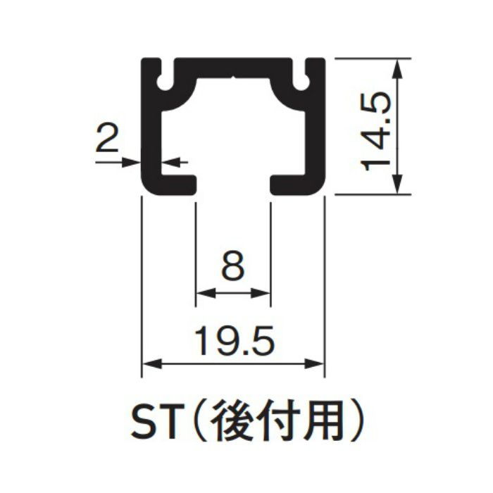 ピクチャーレイルギャラリー ST(後付用) ホワイト 514-949 ホワイト 10本/ケース